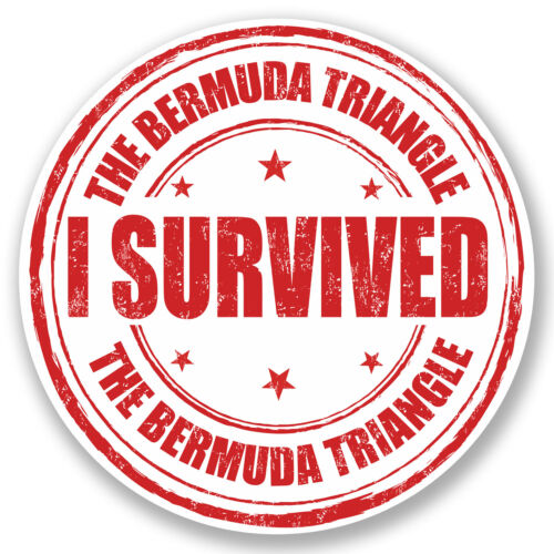 2 X 10 Cm Bermuda Triangle pegatina de vinilo Ipad Laptop viaje Equipaje Tag divertido # 5234