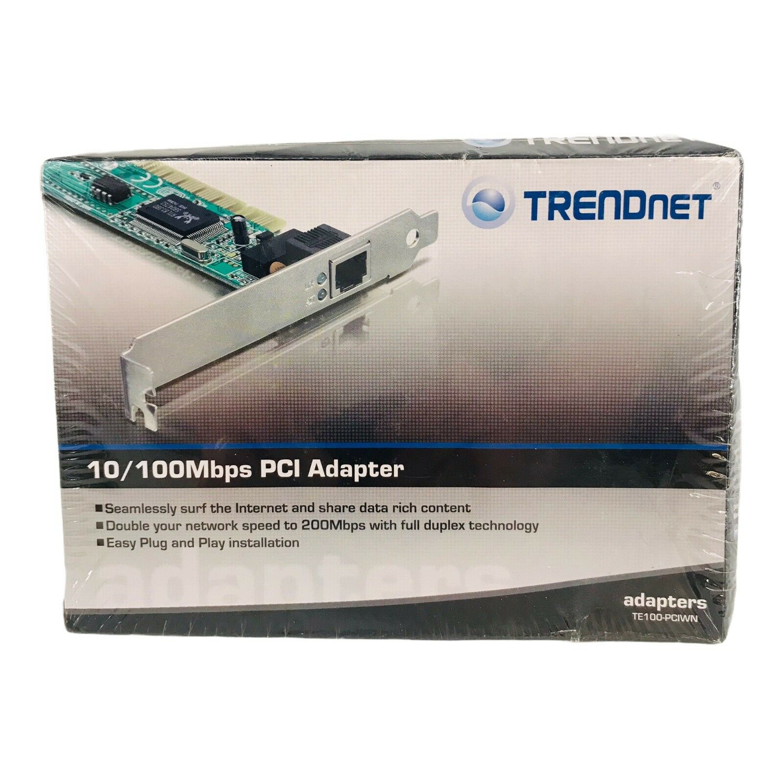 TE100-PCIWN TRENDNET 10/100MBPS Ethernet PCI Card Adapter BRAND NEW SEALED BOX
