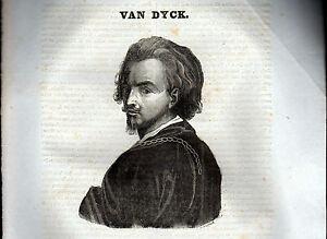 ANTOON-VAN-DYCK-XILOGRAFIA-PRIMA-META-039-039-800-1835-TRATTA-DA-LA-MOSAIQUE