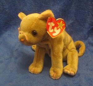 Ty Beanie Baby Scat the Cat Gasport Tag Error CREASED TAG 1998 ... bb5863fb26d5