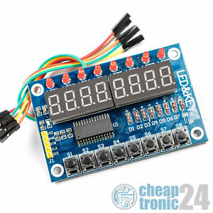 TM1638-8-fach-7-Segment-Taster-Modul-Display-LED-Modul-Arduino-Raspberry-Pi