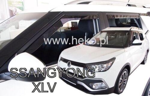 Ssangyong XLV 5 puerta 2015-UP viento desviadores 4pc Set tintadas Heko