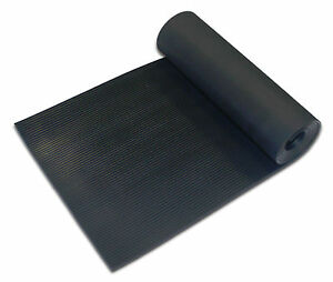 Ribbed Rubber Flooring Matting 1 2m Wide 3mm Thick Anti
