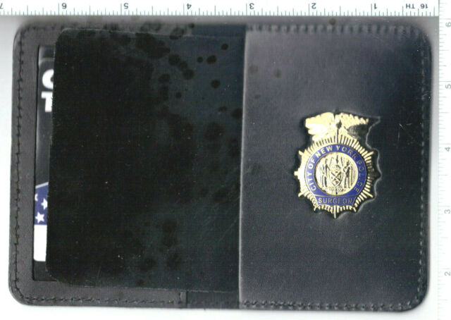 New York City Police Officer/'s Brother 1-inch mini cut-out letters pin wallet