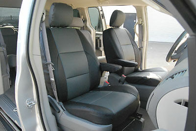 CHRYSLER TOWN & COUNTRY 2001-2010 IGGEE S.LEATHER CUSTOM FIT SEAT COVER 13COLORS