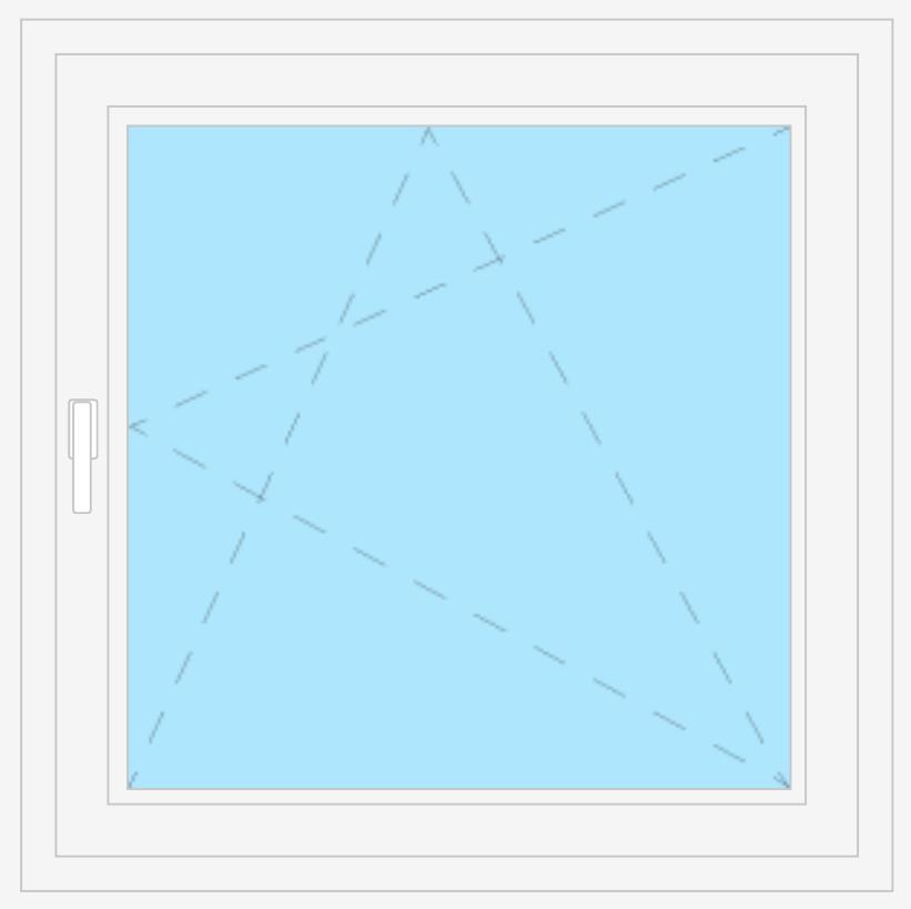 Kunststofffenster Dreh - Kipp Weiß 2   3 fache verglasung isolierglas Fenster