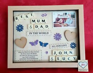 Christmas Ideas For Mom And Dad.Details About Personalised Mum Dad Christmas Gift Picture Frame Keepsake Anniversary Easter