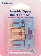 Hemline Sewing MachineZipper Foot Set: Invisible