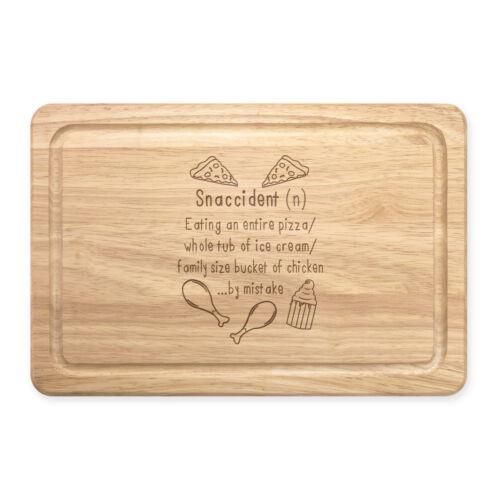 Snaccident définition rectangulaire en bois à découper Board-Drôle Snack accident