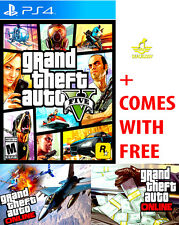 NEW Grand Theft Auto V 5 For The Sony PlayStation 4+PS4 Pro+GTA Online GTAV GTA5