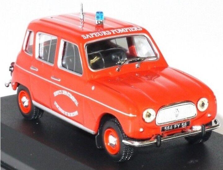 RENAULT 4L FEUERWEHRMANN - 1 43 IXO CAR MAßSTAB AUTO PLUS CLASSICAL CARS Autos