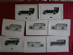 N-8510-8-planches-de-l-039-autocarrosserie-omnibus-et-autocar-1922-1932