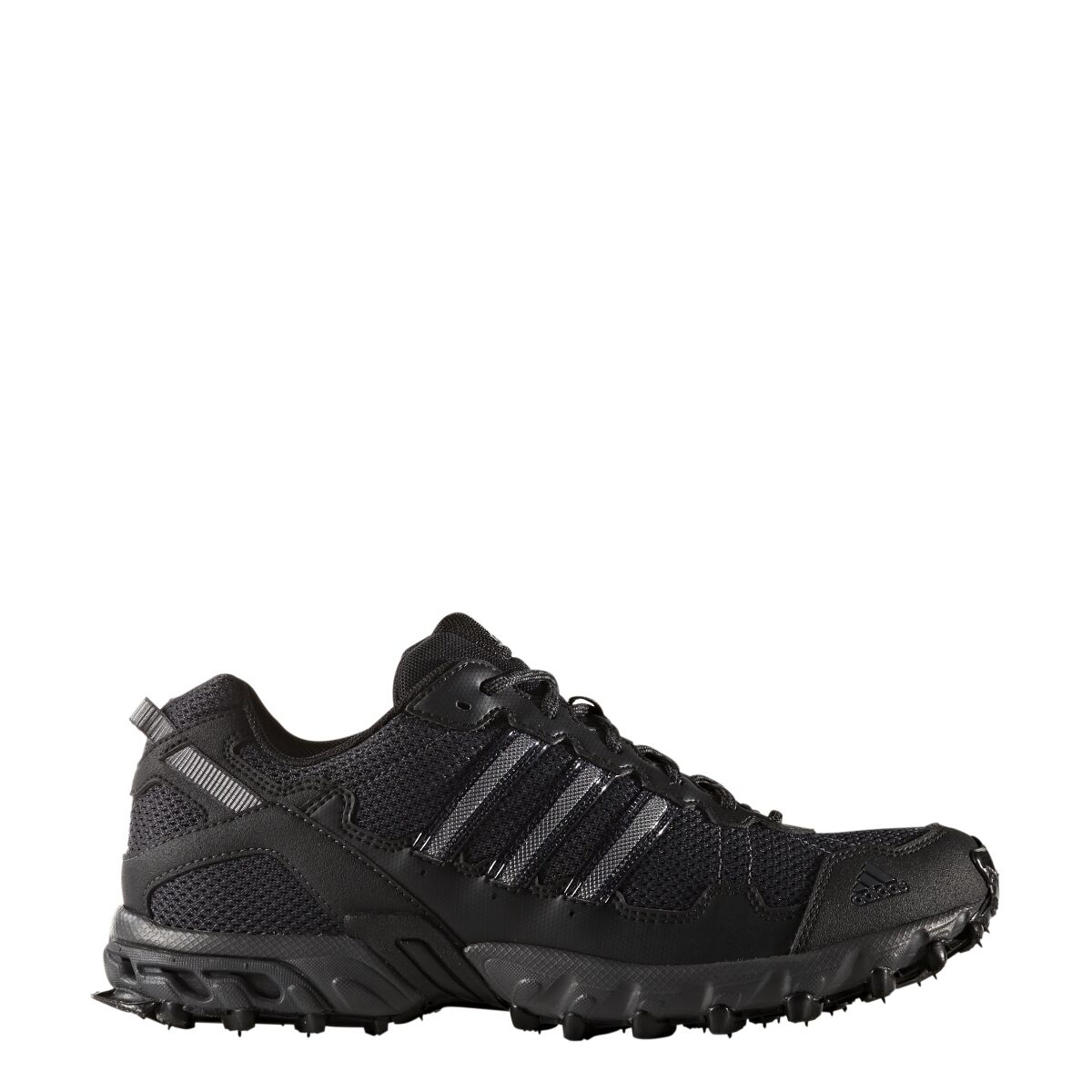 Mens Adidas Rockadia Trail Black Sport Athletic Running Shoe BY1791 Size 9.5