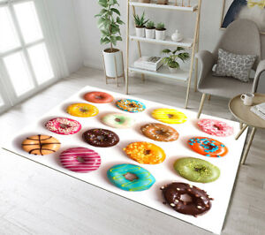 Details about Floor Rug Mat Various Colorful Wheat Donut Bedroom Carpet  Living Room Area Rugs