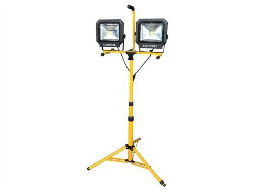 LED Site Light Twin Pod Tripod 4200 Lumen 60 Watt 240 Volt  960 - 1885mm