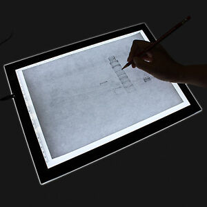 huion 17 7 inch a4 led light box drawing tracing board table pad usb