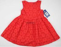 Baby Girl Dress Oshkosh B'gosh Holiday Portrait Sun Size Sz 4t Osh Kosh