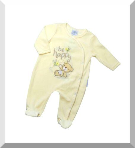 NEU 56 // 62 // 68 Baby Strampler Einteiler Overall Fb hellgelb Gr