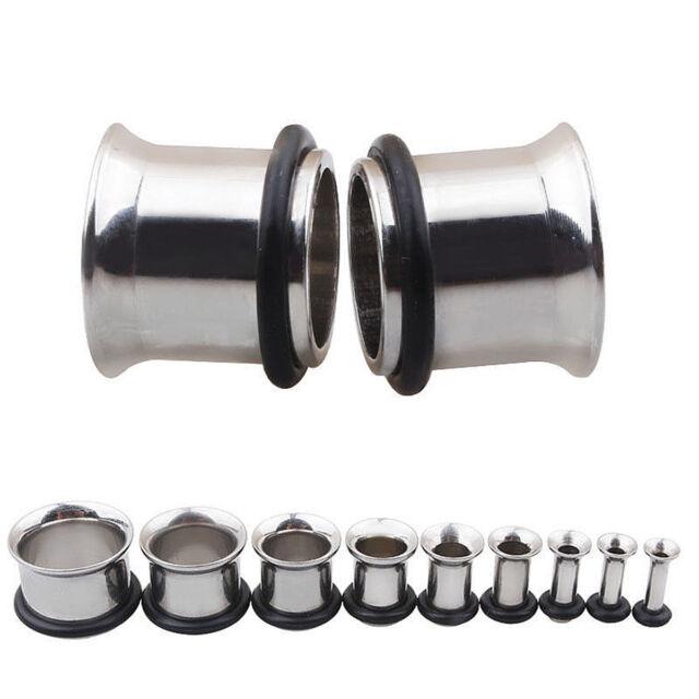 Plug Clear Claw Set CZ ~ Stretched Piercing 3mm Surgical Steel Ear Tunnel