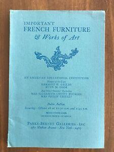 Important French Furniture October 28 1967 Parke Bernet Auction Catalog Ebay