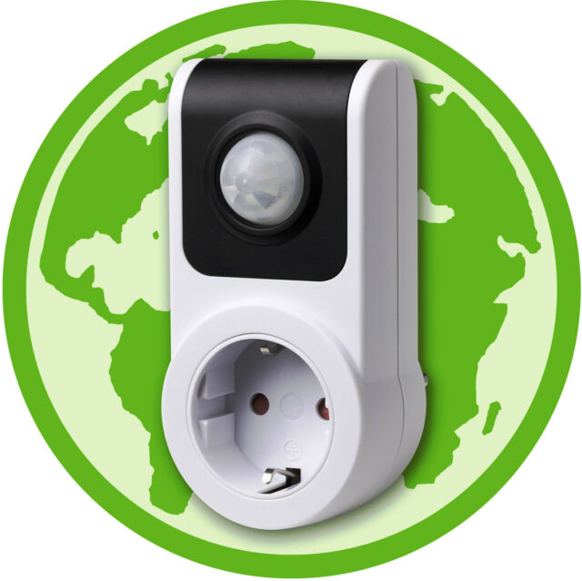 Auto Socket with Photocell PIR Sensor with Automatic Switch 5 minutes Ecosavers