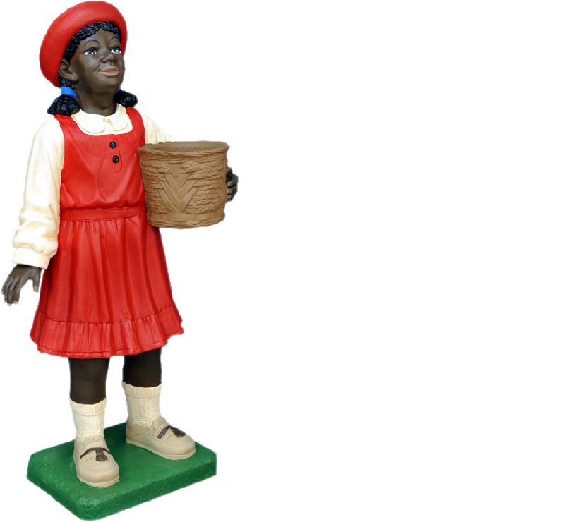 Design Schwarzes Kind Mädchen Figur Statue Skulptur Figuren Skulpturen Deko 7061