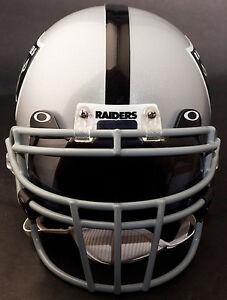OAKLAND-RAIDERS-Schutt-ROPO-DW-Football-Helmet-Facemask-Faceguard-GRAY