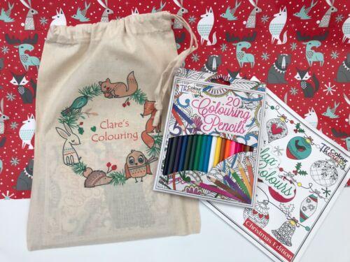 Personnalisé Cadeau De Noël cadeau de Noël//Père Noël Secret adulte couleur tharapy Set