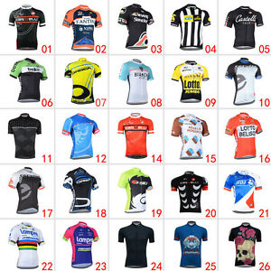 New-Mens-Team-Outdoor-Sports-Cycling-Bike-Short-Sleeve-Jersey-Tops-Size-S-3XL