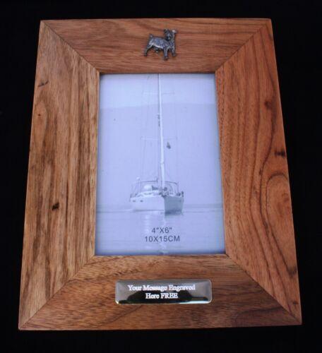 Jack Russell Wooden Photo Frame 6 x 4 Landscape or Portrait Dog Lover Gift