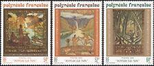 French Polynesia 1988 Tapa Art/Horses/River/Forest/Waterfalls 3v set (n45311e)