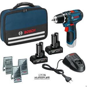 Bosch Cordless Drill Gsr 12 V Nylon Bag 2 X Battery 4 0 39