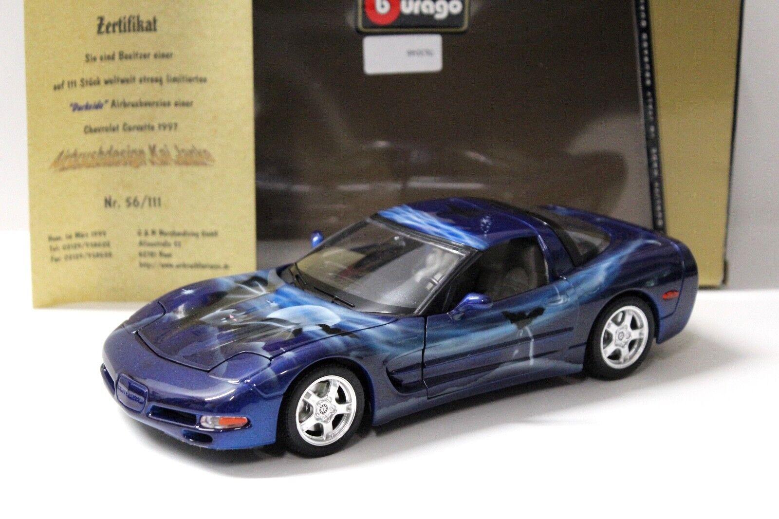 1 18 Bburago Chevrolet Corvette  Darkside  Airbrush NEW bei PREMIUM-MODELCARS