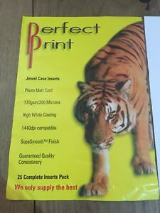 perfect print cd dvd jewel case inserts matt print paper 25 pack ebay
