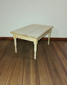 Table dollhouse miniature 1//12 scale furniture unfinished T4295 Kitchen Work