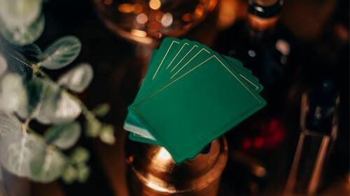 NOC Out Green and Gold Playing CardsPoker DeckCollectable