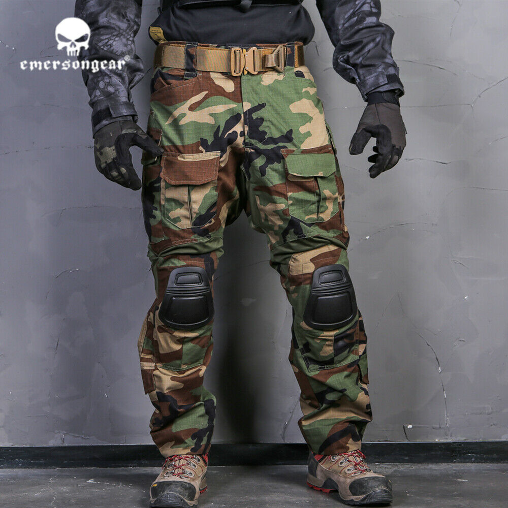 Emerson G3 Combat Pants Army Multicam Airsoft Regular Tactical Trousers Woodland
