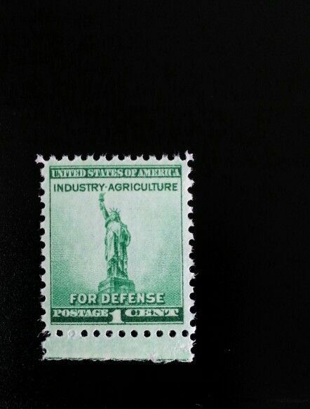 1940 1c Defense, Statue of Liberty Scott 899 Mint F/VF