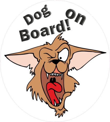 static cling Dog On Board sticker fun pet decal dog No4 150x135mm