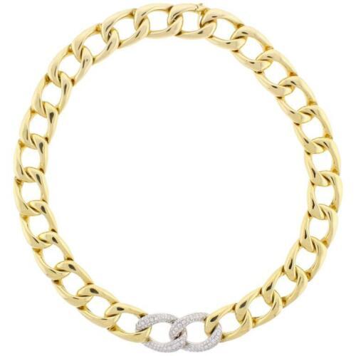 Abel & Zimmerman Diamond Open Link Necklace.