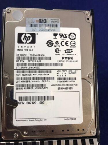 "HP 146GB 2.5/"" Hard Drive 507125-B21 6g sas dp 10000 rpm 507283-001 dual port"