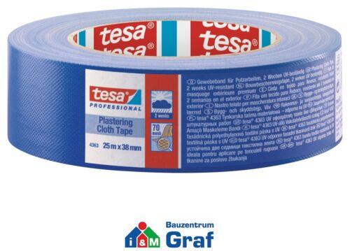 tesa Putzband 4363 UV Abklebeband Gewebeband blau 25 m x 38 mm //#870790