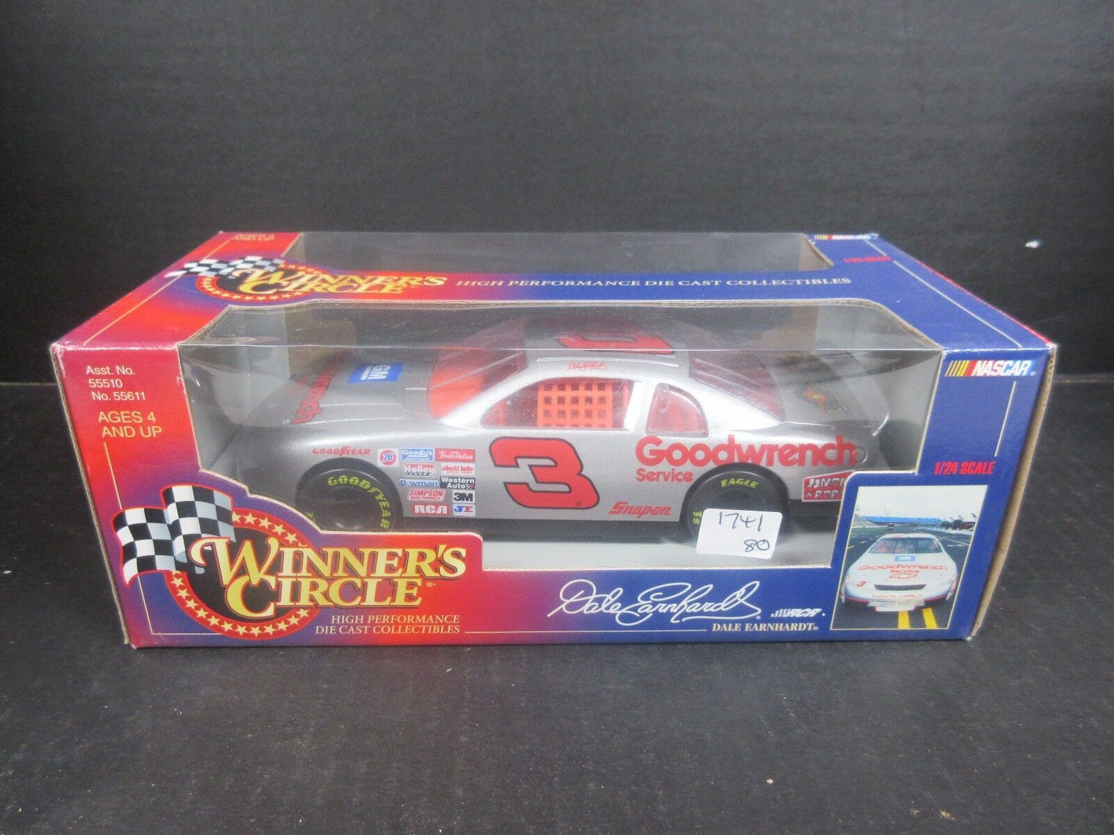 Winners Circle 1995 Goodwrench Silber  3 Dale Earnhardt 1 24th  race car