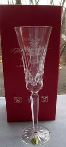Waterford Crystal 12 Days of Christmas Flute Lismore Ed, 2 Turtle Doves NIB