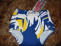 Zubaz Diaper Cover - Blue, White & Yellow 1 Size Vintage Warehouse Find Rare