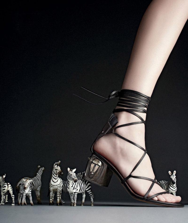 1595 1595 1595 VALENTINO Mask Heel Lace Up Leather Gladiator Sandal scarpe 38 nero   Marronee 0605fc