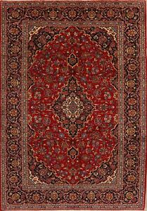 Vintage-Handmade-Floral-Ardakan-Wool-Area-Rug-Traditional-Oriental-Carpet-7-039-x10-039