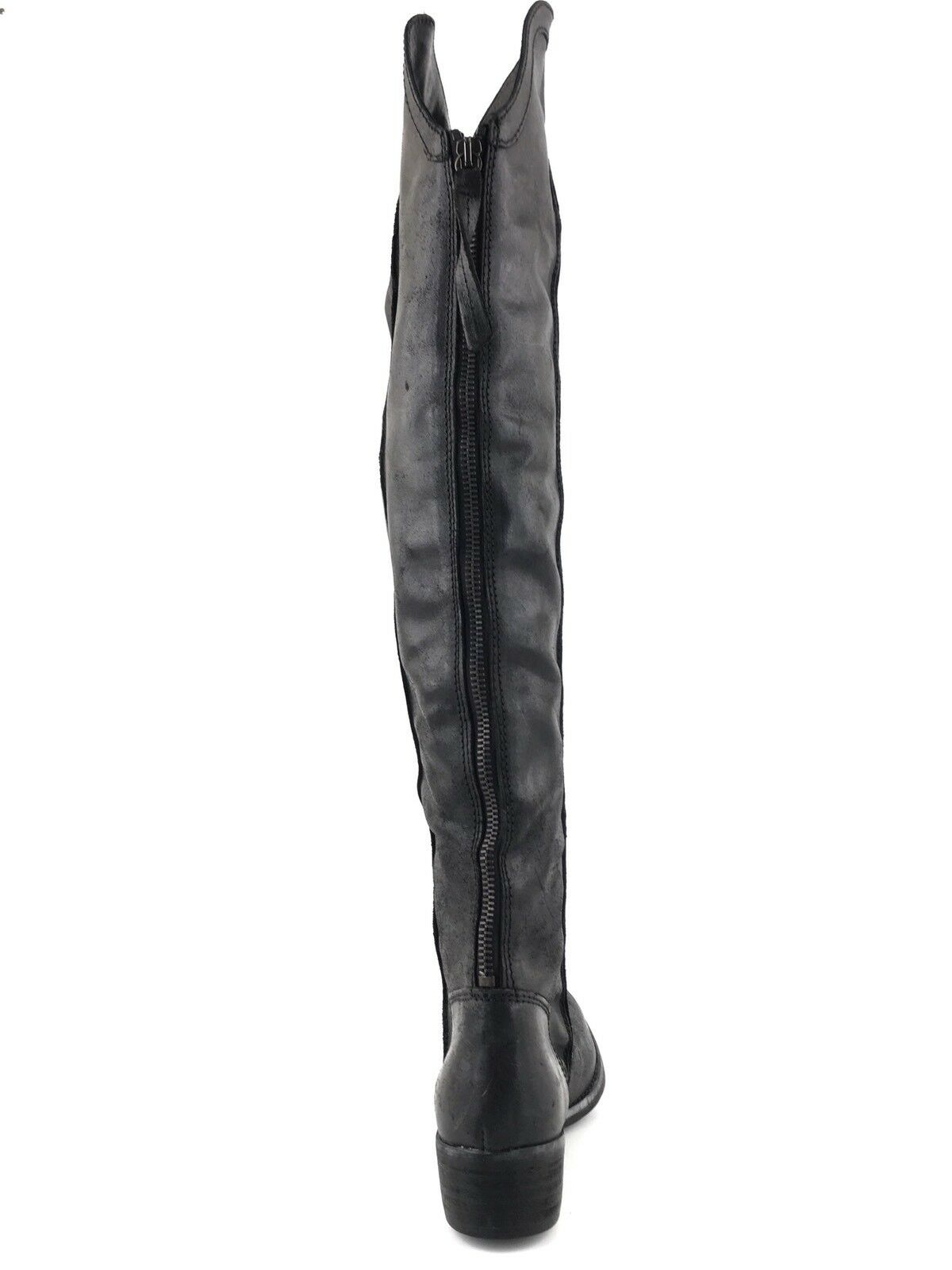 KG KG KG Kurt Geiger Wentworth Black Leather Over The Knee Boots Women's Size 37 M 696cf0