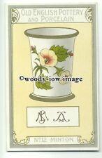 su2014 - Old English Pottery & Porcelain - Minton - postcard Chairman Cigs