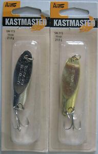 2 Pks. Acme Tackle Kastmaster Pêche Leurres 3/4 Once-two Popular Colors-afficher Le Titre D'origine